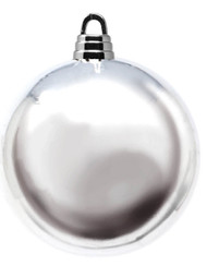 Oversized 20cm Silver Bauble