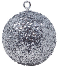 Oversized 15cm Silver Sequin Bauble