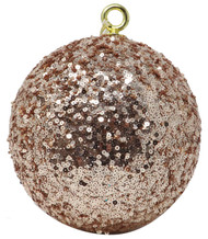 Oversized 15cm Rose Gold Sequin Bauble