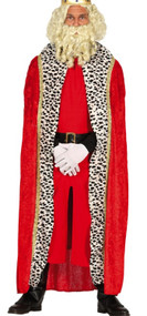 Adults Long Red Velvet Fancy Dress Cape