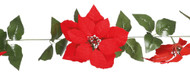 Poinsettia Traditional Christmas Flower Garland