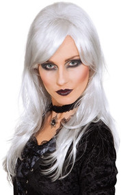 Ladies White Witch Fancy Dress Wig