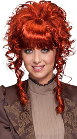 Ladies Red Steampunk Wig