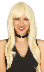 Ladies Blonde Wavy Glamour Fancy Dress Wig