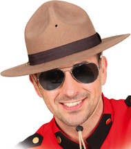 Mens Mountie Fancy Dress Hat