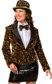 Ladies Gold Sequinned Jacket