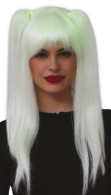 Ladies Glow In The Dark Long Pigtails Wig