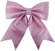 Blush Pink Glittery Oversized Christmas Bow Decoration