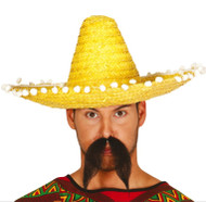 Adults 45cm Yellow Mexican Sombrero Hat