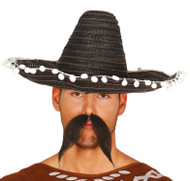 Adults 45cm Black Mexican Sombrero Hat