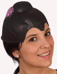 Ladies Black PVC Oriental Headpiece