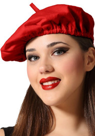 Adults Red French Beret Hat