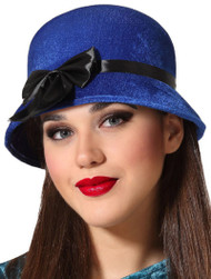 Ladies Blue 1920s Vintage Hat