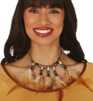 Ladies Native Indian Feathered Choker