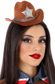 Ladies Cowboy Stetson Mini Hat Headband