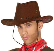 Adults Deluxe Brown Cowboy Hat