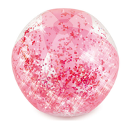 Pink Glitter Inflatable Beach Ball