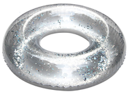 Silver Glitter 93cm Inflatable Ring Float