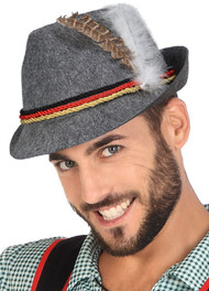 Adults Grey Oktoberfest Hat
