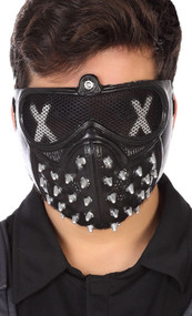 Adults Black Studded Gamers Mask