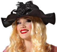 Ladies Deluxe Black 1920s Hat
