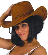 Adults Classic Brown Cowboy Hat