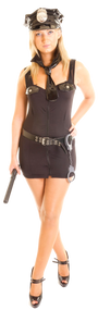Ladies Above the Law Cop Fancy Dress Costume