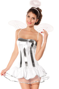Ladies Christmas Angel Fancy Dress Costume