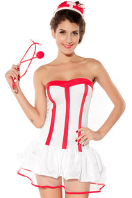 Ladies Heartcheck Nurse Fancy Dress Costume