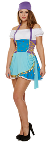 Ladies Gypsy Fortune Teller Fancy Dress Costume