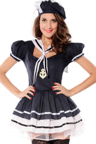 Ladies Sailor Sweetie Fancy Dress Costume