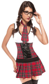 Ladies Class President School Girl Fancy Dress Costume