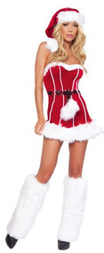 Ladies Naughty Santa Girl Fancy Dress Costume