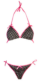 Ladies Polka Dot Bikini Set
