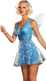 Ladies Light Up Fairy Fancy Dress Costume