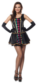 Ladies Mardi Gras Fancy Dress Costume