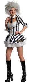 Ladies Miss Beetlejuice Fancy Dress Costume