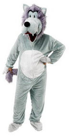 Adult Big Bad Wolf Fancy Dress Costume