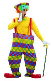 Mens Clown Fancy Dress Costume