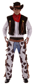 Mens Cowboy Fancy Dress Costume