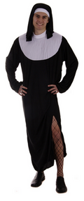 Mens Nun Fancy Dress Costume