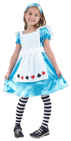 Girls Alice in Wonderland Fancy Dress Costume 2