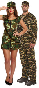 Couples Army Fancy Dress Costumes