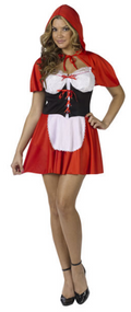 Ladies Little Red Riding Hood Fancy Dress Costume 2