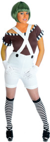 Ladies Factory Worker Dungarees Fancy Dress Costume