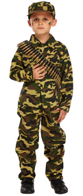 Boys Army Fancy Dress Costume