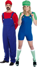 Couples Mario & Luigi Fancy Dress Costumes