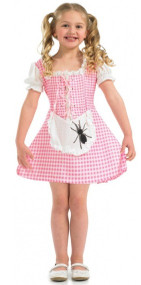 Girls Little Miss Muffet Fancy Dress Costume