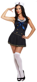 Ladies Sexy Sailor Fancy Dress Costume