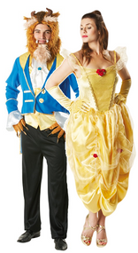 Couples Beauty and the Beast Fancy Dress Costumes